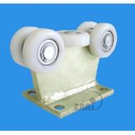 Wózek do bramy - 5 rolkowy, stały (PROFIL 80x80x4mm) - 5T-80/4