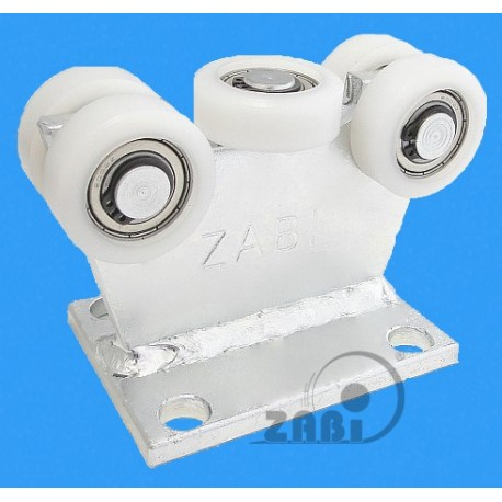 Wózek do bramy - 5 rolkowy, stały (PROFIL 70x70x4mm) - 5T-70M light