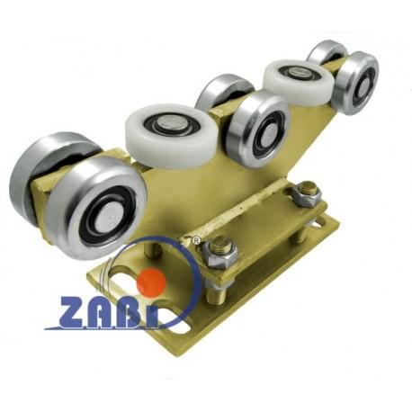Wózek do bramy - 8 rolkowy, stały (PROFIL 70x70x4mm) - R-8M-70