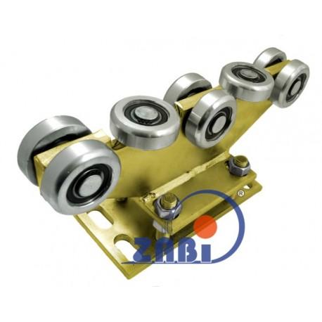 Wózek do bramy - 8 rolkowy, stały (PROFIL 70x70x4mm) - R-8MM-70