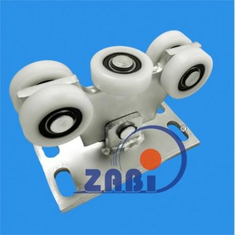 Wózek do bramy - 5 rolkowy, wahliwy (PROFIL 70x70x4mm) - W-5T-70M light