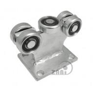 Wózek do bramy - 5 rolkowy, stały (PROFIL 50x50x3mm) - 5MM-50