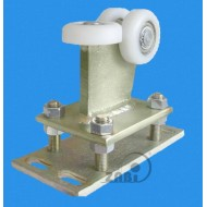 Wózek do bramy - 3 rolkowy, stały (PROFIL 80x80x4mm) - R-3T-80/4