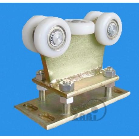 Wózek do bramy - 5 rolkowy, stały (PROFIL 80x80x4mm) - R-5T-80/4