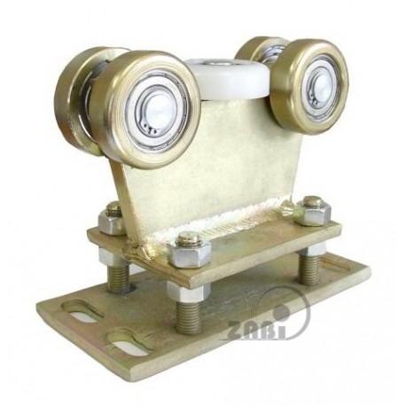 Wózek do bramy - 5 rolkowy, stały (PROFIL 80x80x4mm) - R-5M-80/4