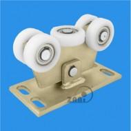 Wózek do bramy - 5 rolkowy, wahliwy (PROFIL 80x80x4mm) - W-5T-80/4
