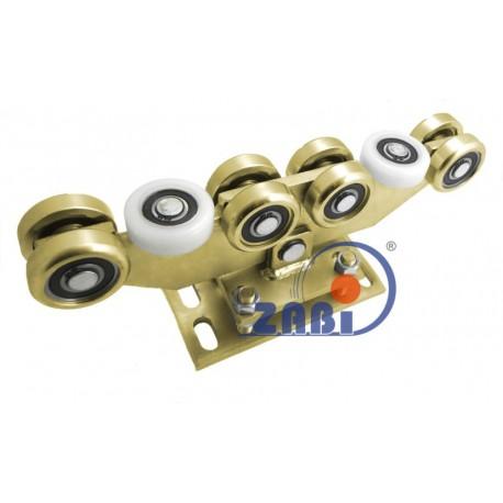 Wózek do bramy - 10 rolkowy, wahliwy (PROFIL 80x80x4mm) - WR-10M-80/4