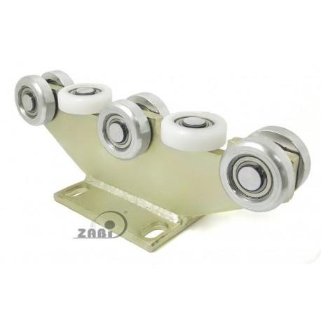 Wózek do bramy - 8 rolkowy, stały (PROFIL 70x70x4mm) - 8M-70