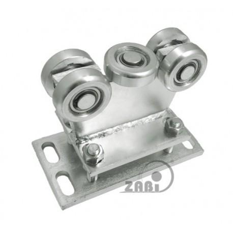 Wózek do bramy - 5 rolkowy, stały (PROFIL 70x70x4mm) - R-5MM-70