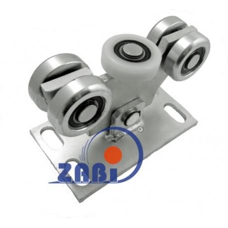 Wózek do bramy - 5 rolkowy, wahliwy (PROFIL 70x70x4mm) - W-5M-70M light