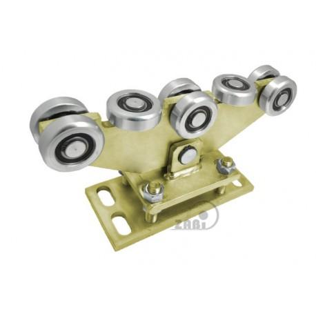 Wózek do bramy - 8 rolkowy, wahliwy (PROFIL 70x70x4mm) - WR-8MM-70