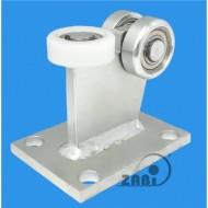 Wózek do bramy - 3 rolkowy, stały (PROFIL 50x50x3mm) - 3M-50