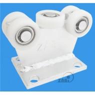Wózek do bramy - 5 rolkowy, stały (PROFIL 50x50x3mm) - 5T-50
