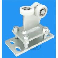 Wózek do bramy - 3 rolkowy, stały (PROFIL 50x50x3mm) - R-3T-50