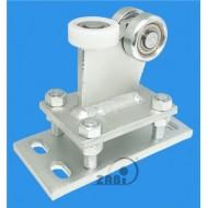 Wózek do bramy - 3 rolkowy, stały (PROFIL 50x50x3mm) - R-3M-50
