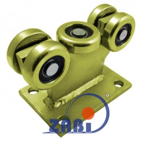 Wózek do bramy - 5 rolkowy, stały (PROFIL 60x60x4mm) - 5MM-60/4