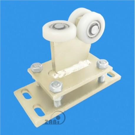 Wózek do bramy - 3 rolkowy, stały (PROFIL 60x60x4mm) - R-3T-60/4