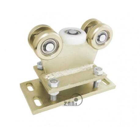 Wózek do bramy - 5 rolkowy, stały (PROFIL 60x60x4mm) - R-5M-60/4
