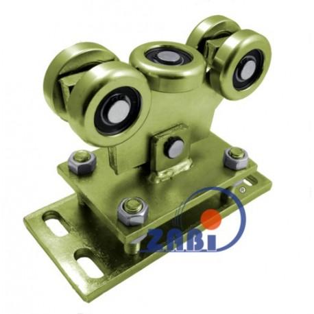 Wózek do bramy - 5 rolkowy, wahliwy (PROFIL 60x60x4mm) - WR-5MM-60/4