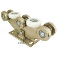Wózek do bramy - 8 rolkowy, wahliwy (PROFIL 90x100x4mm) - W-8M-90/100