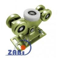 Wózek do bramy - 5 rolkowy, wahliwy (PROFIL 100x90x4mm) - WR-5M-100/90