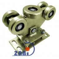 Wózek do bramy - 5 rolkowy, wahliwy (PROFIL 100x90x4mm) - WR-5MM-100/90