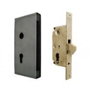 Zamek hakowy 72/40 do bramy, drzwi lub furtki z puszką - mały