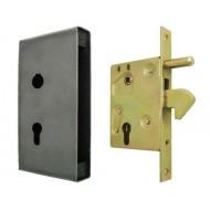 Zamek hakowy 72/63 do bramy, drzwi lub furtki z puszką - duży